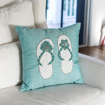 Flip Flop Decorative Pillow