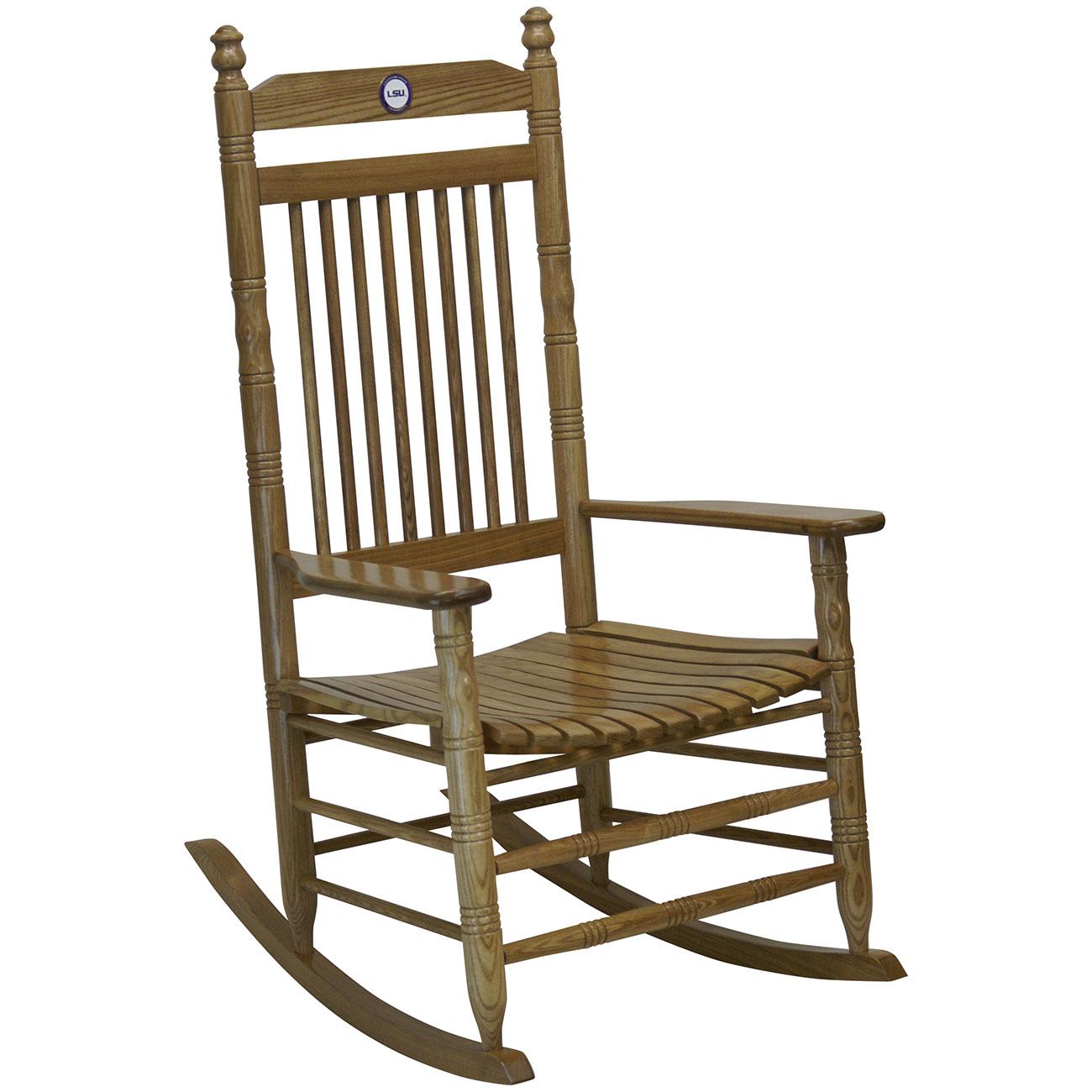 Hardwood Rocking Chair   LSUHardwood Rocking Chair   LSU ...