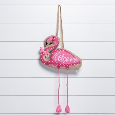 Flamingo Welcome Wall Hanger
