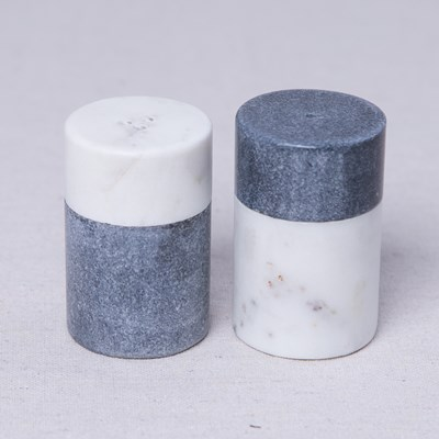 Marble Salt and Pepper Shaker Set