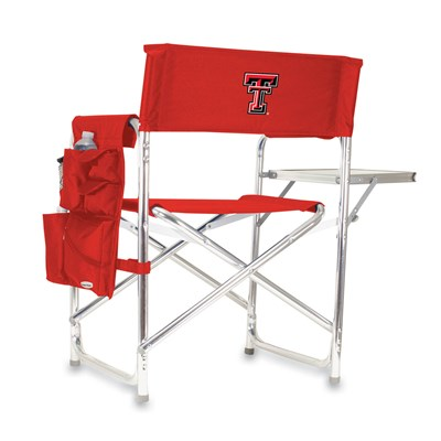 Portable Chair with Tray and Caddy - Texas Tech