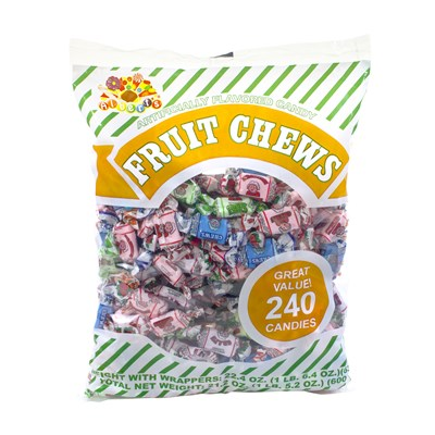 Assorted Fruit Chews 240-Piece Bag