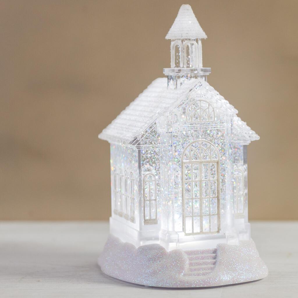Acrylic Church Glitter Globe - Cracker Barrel Old Country Store