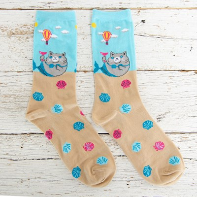 Cat Mermaid Socks