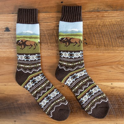 Buffalo Road Cabin Socks