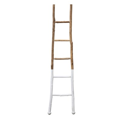 Decorative Wood Ladder - White Dipped
