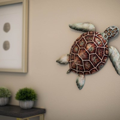 Metal Turtle Wall Decor - Small