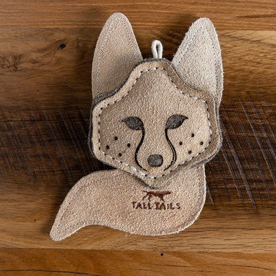 Leather Fox Dog Toy