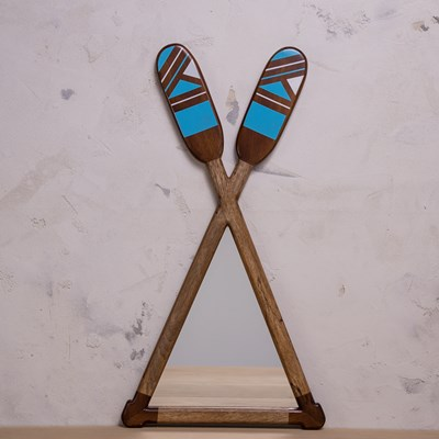 Wooden Oars Wall Mirror