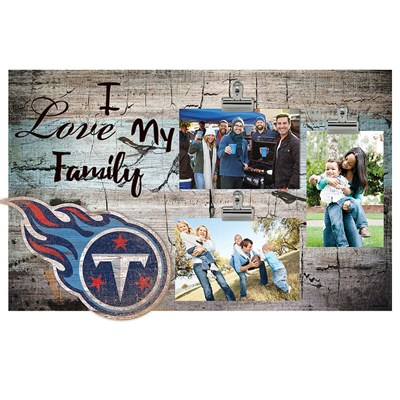Tennessee Titans - I Love My Family Clip Frame