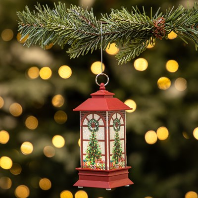 Light-Up Lantern Ornament - Christmas Tree