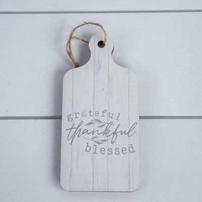 """Grateful Thankful Blessed"" Mini Bread Board"