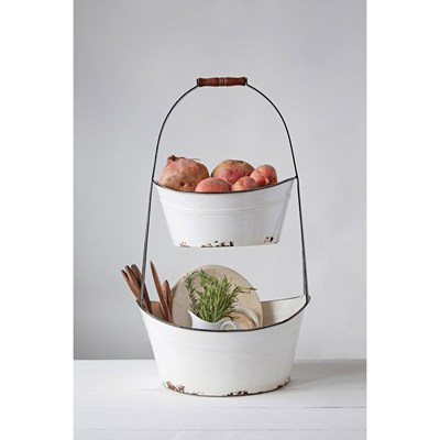 2 Tier Metal Bucket