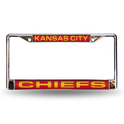 Kansas City Chiefs Laser License Plate Frame