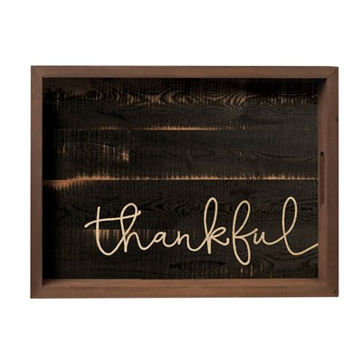 """Thankful"" Farmhouse Serving Tray"
