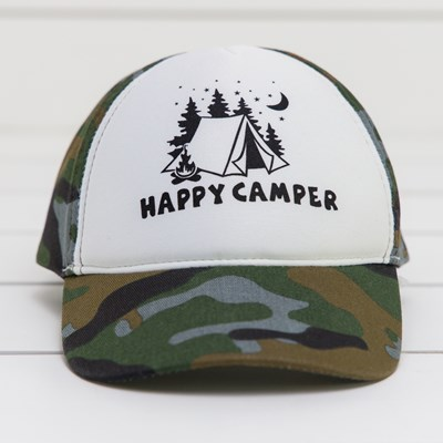 """Happy Camper"" Kids' Hat"