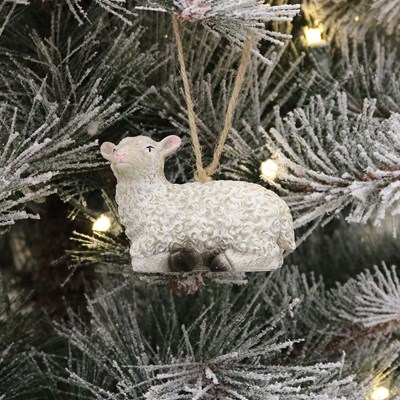 Sitting Sheep Ornament