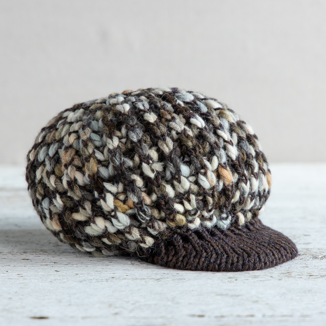 Wool-Blend Cabbie Hat
