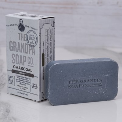 The Grandpa Soap Co. Face & Body Bar - Charcoal