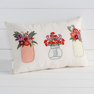 Mason Jar Flower Pillow
