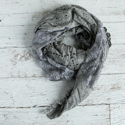 Lace Patch Scarf