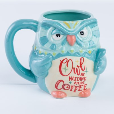 """Owl Be Needing More Coffee"" Mug"