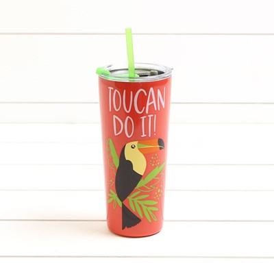 Toucan Do It 22 oz Tumbler with Straw