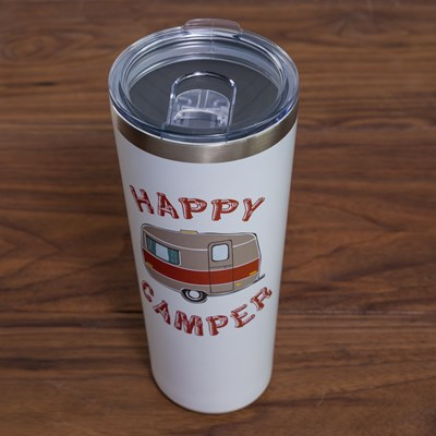 """Happy Camper"" 32oz. Tumbler"