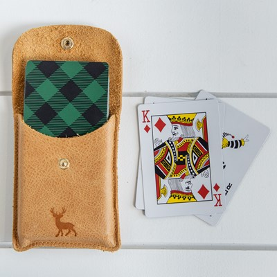 Playing Cards in Leather Case