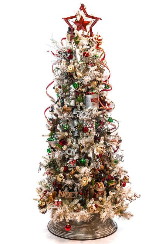 8\' Pre-Lit Frosted Vista Ridge Pine Christmas Tree | Christmas ...
