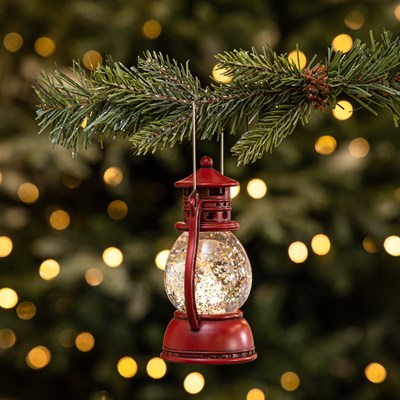 Light-Up Lantern Ornament - Red