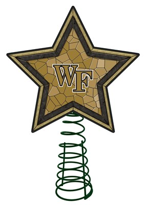Wake Forest Mosaic Tree Topper