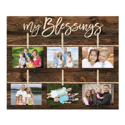 """My Blessings"" Photo Board Wall Decor"