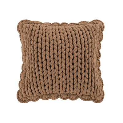 Donna Sharp Chunky Knitted Camel Dec Pillow