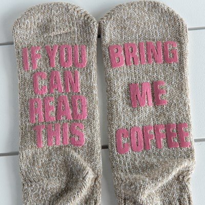 Bring Me Coffee Slipper Socks