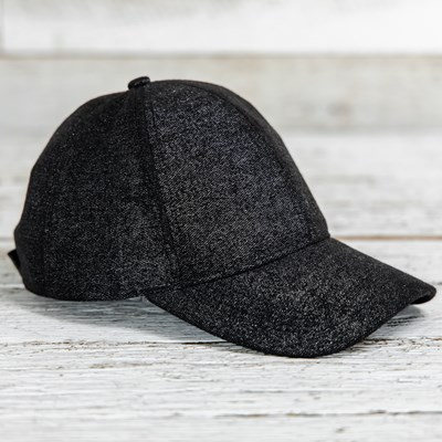 Black Sparkle Baseball Hat