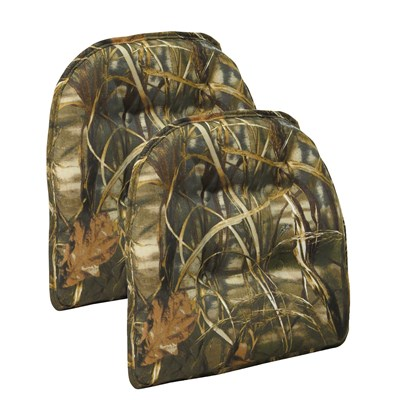 Realtree Tufted Chair Cushion - 2 Pack