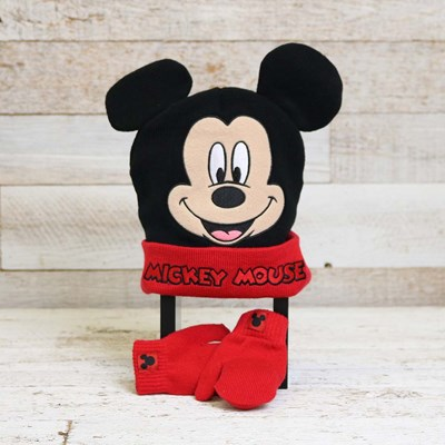Mickey Mouse Hat and Glove Set