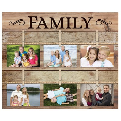 """Family"" Wall Photo Board"