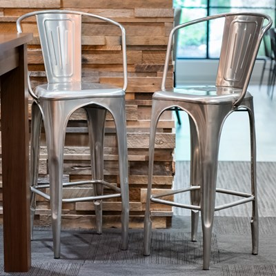 Metal Bar Stool Chair - Set of 2