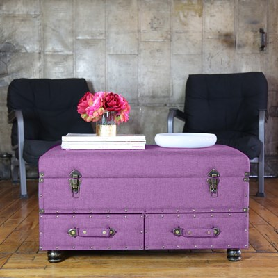 Linen Storage Trunk - Light Purple