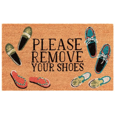 Please Remove Your Shoes Doormat