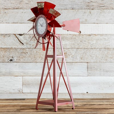 Decorative Windmill Clock