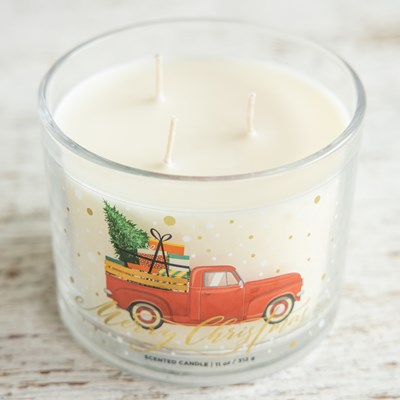 Vintage Red Truck Jar Candle
