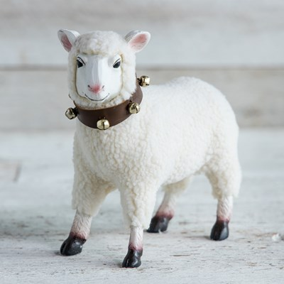 Oh Gussie! Sheep with Jingle Bell Collar Figurine