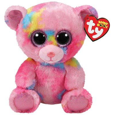 221f7f350e1 TY franky the pink bear 6 beanie boo