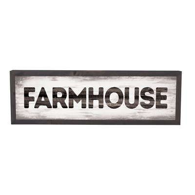 """Farmhouse"" Framed Sign"