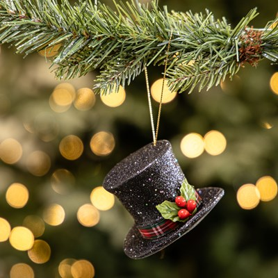 Black Top Hat Ornament