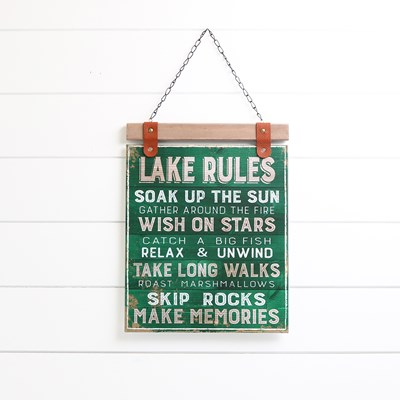 Lake Rules Wall Decor