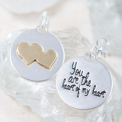 """You Are The Heart Of My Heart"" Charm"